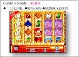 Alice-spielendes Kasino-videoSäulengang-Schlitz-Spiel-Maschine