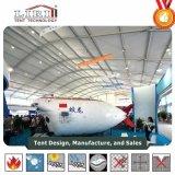 Un gran arco de 40m Double Decker, tienda de diseño con pared de vidrio para la Feria de Exposiciones