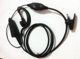 Белый кристаллический наушник Earhook провода в Interphone