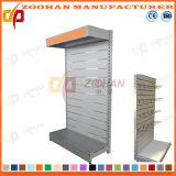 Sola estantería echada a un lado modificada para requisitos particulares fábrica de la visualización del surco del supermercado (Zhs242)