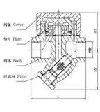 """Ловушка S19h-16c дренажного клапана/пара (1/2 """" - 2 """")"""