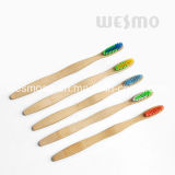 Brosse à dents en bambou écologique avec poils bleus (WBB0871H)