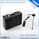 반대로 증거 연료 소비 보고를 가진 연료 감시 GPS 추적자