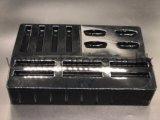 Cassetto nero di imballaggio di plastica di lucentezza per gli insiemi cosmetici
