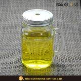 vaso di vetro del muratore di memoria di sublimazione di scintillio 20oz con il coperchio