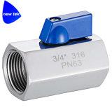 Шариковый клапан нержавеющей стали Dn6 1/4in (316) миниый - Fxfnpt