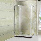 Square profil en acier inoxydable simple salle de douche porte de la charnière