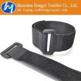 Cintas plásticas ajustáveis da asseguração do gancho e do laço