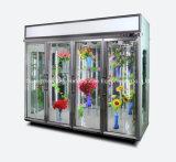 Bildschirmanzeige-Nacjbarschaftsladen-Blumen-Kühlraum mit Cer