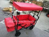Zusammenklappbarer faltender Dienstlastwagen, Garten-Karre, im Freien, kaufend (Rot)
