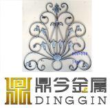 2017 Best Seller ornamento de valla de la ventana de hierro forjado.