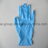 9 Handschoenen van het Onderzoek van het Nitril van de Hand van het Poeder van de duim de Beschikbare Vrije Beschermende