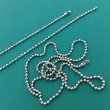 China Wholesale Cordón la bola de acero inoxidable de la cadena de plata