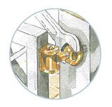 Charnière tournante de grille d'oscillation avec le boulon et la noix