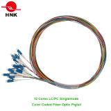 Coleta óptica cifrada color de fibra de la PC del LC de 12 corazones