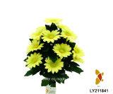 Artificial / plástico / de seda de la flor de la margarita de Bush (LY211841)
