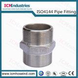 Croix de raccords filetés en acier inoxydable/ISO 4144 le raccord de tuyau