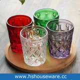 Vetri beventi impressi della doppia barra antiquata di vetro