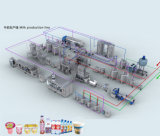 Línea pasterizada automática completa del tratamiento de la leche