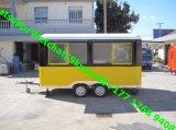 Машина попкорна тележки еды передвижной тележки мороженного облегченная