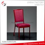Goldener Rahmen-rotes Gewebe aufgefüllt, Empfang-Stuhl (BC-18) speisend