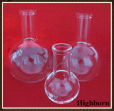 Pallone inferiore rotondo libero di vetro di Borosilicate con il collo lungo