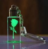 Стекло Keychain СИД светлое оптовое кристаллический для подарка