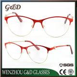 Metal Glasses Eyewear Eyeglass新しいデザイン普及した女性の女性光学フレームXdbazzu