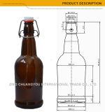 Qualitäts-bernsteinfarbiger/freier/blauer stämmiger Bierflasche-Großverkauf (1232)