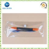 Zak van de Pen van pvc van de douane de Plastic met Ritssluiting (JP-Plastic039)