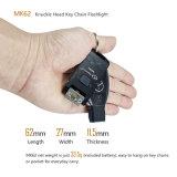 Mini USB llavero linterna LED CREE recargable de gran cantidad de lúmenes Knuckle largo tiempo de ejecución de la cabeza alta resistente al agua para todos los días de emergencia llevar linterna LED camping