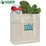 Normale weiße Einkaufen-Träger-Baumwollgroßhandelsbeutel (TP-SP069)