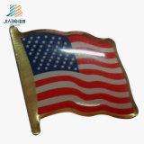 Бесплатный образец цинкового сплава литой эмали значка пользовательского Великобритания флаг Булавка