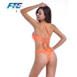 최신 현대 유행 주황색 브라질 성 소녀 비키니 수영복