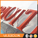カラー任意選択金属によってバックライトを当てられる経路識別文字の印を広告するカスタマイズされた3D