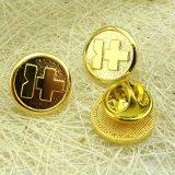 Speld van de Revers DIY van het Metaal van de Douane van de fabriek de Directe Gouden Dwars