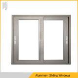 Guichet de glissement en aluminium en verre de double vitrage avec le gril