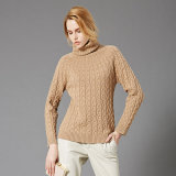 Halsausschnitt-Kaschmir-Strickjacke-Qualität gestrickte Pullover-Großverkauf-Chinese-Fabrik der Frauen