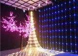Decorativa LED de iluminación exterior neta plegable ligero para árbol de Navidad