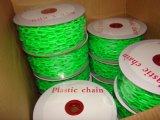 Barrière de sécurité en plastique de la chaîne de lien en plastique de la chaîne de sécurité de chantier