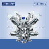 Soupape à diaphragme de Multi-Port de solides solubles avec le dispositif d'entraînement d'acier inoxydable