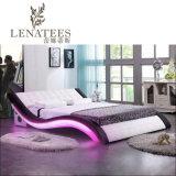 [أ044-1] جديدة تصميم غرفة نوم لون موسيقى سرير أثاث لازم حديثة