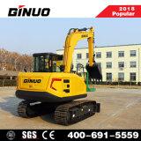 Precio barato China pequeña excavadora Excavadora de ruedas con CE