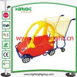 Supermarkt-Plastikkind-Einkaufswagen für Einkaufszentrum
