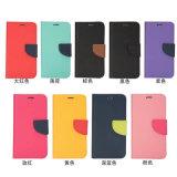 Модные элегантный удар цвет PU Кожаное портмоне телефон случае-- черный