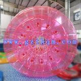 Bola inflable colorida de Zorb, bola inflable transparente del rodillo del agua para los cabritos