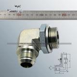 Raccords de tuyaux en acier au carbone Coude Raccords de tuyau hydraulique en laiton pneumatique