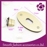 Saco de liga metálica Oval moda gire a trava Mala de Hardware de Acessórios