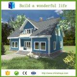 Moderno de acero prefabricado de lujo de las casas a dos caras del chalet hecho en China
