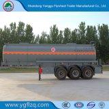 Ácido sulfúrico de Tres Compartimentos camión cisterna semi remolque con neumáticos 385/65R22.5